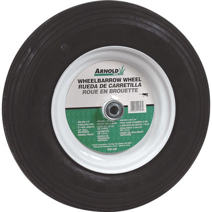 Picture of Arnold 16 x 480/400-8 In. Pneumatic Wheelbarrow Wheel with 3 In. Hub