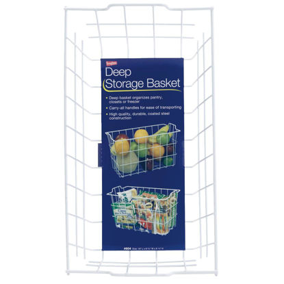 Picture of Grayline 8-3/4 In. W. x 9-1/4 In. H. x 16 In. L. Vinyl Coated Wire Deep Storage Basket, White