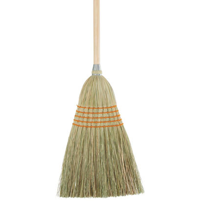 Picture of 11.5 In. W. x 42 In. L. Natural Wood Handle Lightweight House Corn Broom