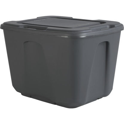 Picture of Homz 18 Gal. Gray 4-Way Handle Storage Tote