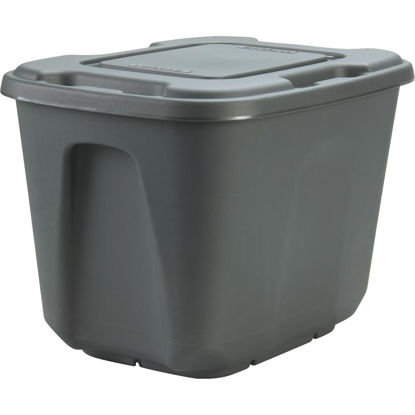 Picture of Homz 10 Gal. Gray 4-Way Handle Storage Tote