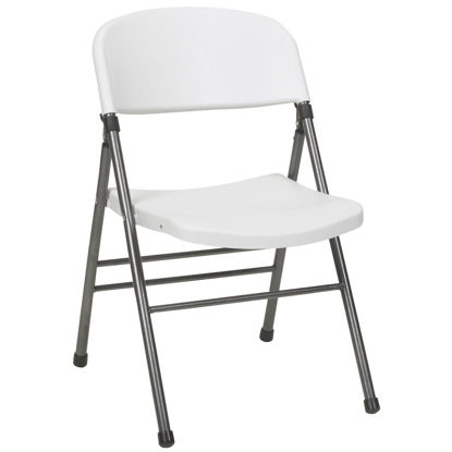Picture of COSCO Endura White Resin Folding Chair