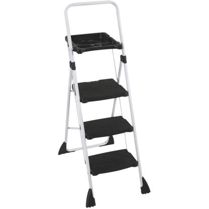 Picture of Cosco TriStepPlus Tubular Steel Platform Ladder with 225 Lb. Load Capacity Type II Ladder Rating