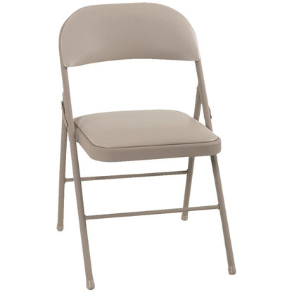 Picture of COSCO Beige Vinyl Folding Chair