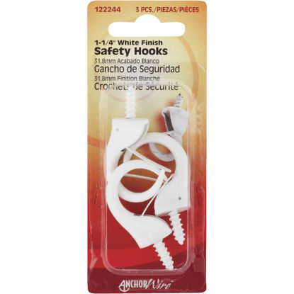 Picture of Hillman Anchor Wire 1-1/4 In. White Safety Hook