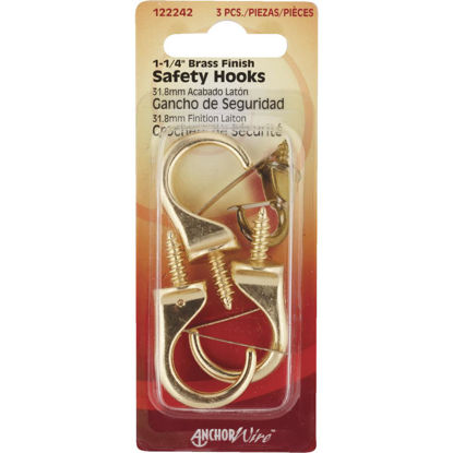 Picture of Hillman Anchor Wire 1-1/4 In. Brass Safety Hook