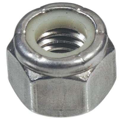 Picture of Hillman #8 32 tpi Stainless Steel Course Thread Nylon Insert Lock Nut (100 Ct.)