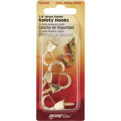 Picture of Hillman Anchor Wire 7/8 In. Brass Spring Safety Hook