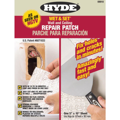 Picture of Hyde Wet & Set 5 In. x 15 In. Wall & Ceiling Drywall Patch
