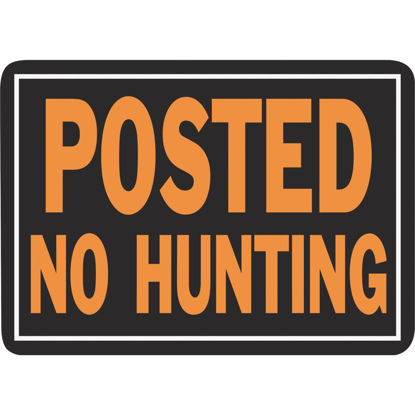 Picture of Hy-Ko Aluminum Sign, Posted No Hunting