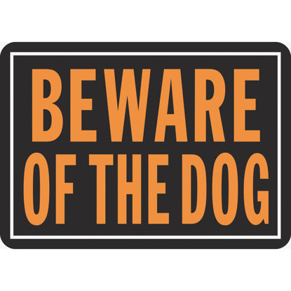 Picture of Hy-Ko Aluminum Sign, Beware Of The Dog