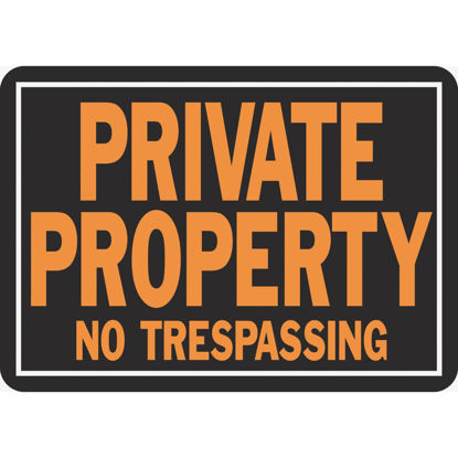 Picture of Hy-Ko Aluminum Sign, Private Property No Trespassing
