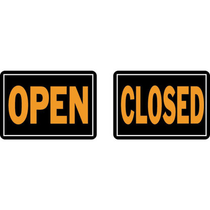 Picture of Hy-Ko Aluminum Reversible Sign, Open/Closed