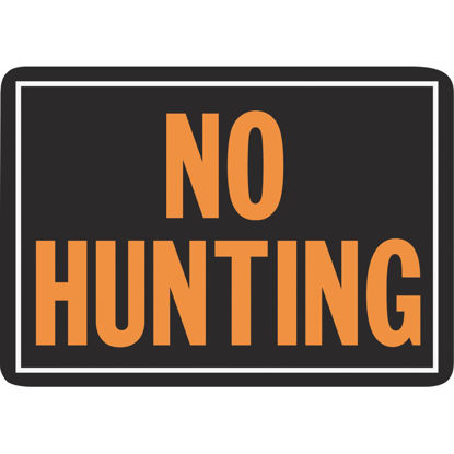 Picture of Hy-Ko Aluminum Sign, No Hunting