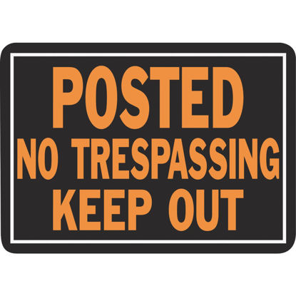 Picture of Hy-Ko Aluminum Sign, Posted No Trespassing Keep Out