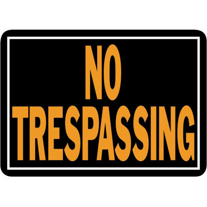 Picture of Hy-Ko Aluminum Sign, No Trespassing