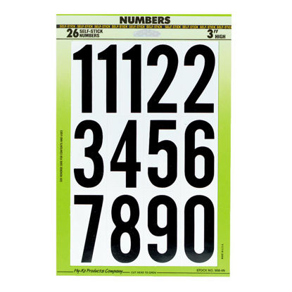 Picture of Hy-Ko 3 In. Self-Adhesive Assortment Numbers