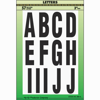 Picture of Hy-Ko 3 In. Self-Adhesive Assortment Letters