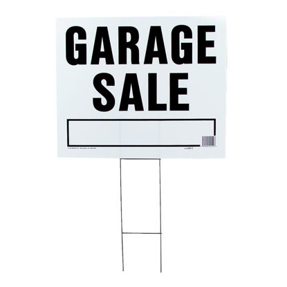Picture of Hy-Ko Corrugated Plastic Sign, Garage Sale