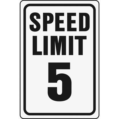 Picture of Hy-Ko Heavy-Duty Aluminum Sign, Speed Limit 5