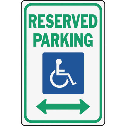 Picture of Hy-Ko Heavy-Duty Aluminum Sign, Reserved Parking Handicap