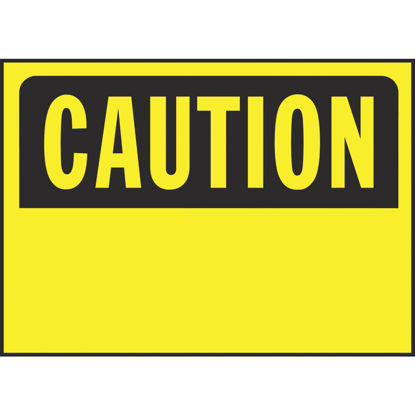 Picture of Hy-Ko Polyethylene Sign, Caution-Blank