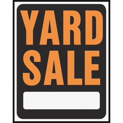 Picture of Hy-Ko Heavy Gauge Plastic Sign, Yard Sale