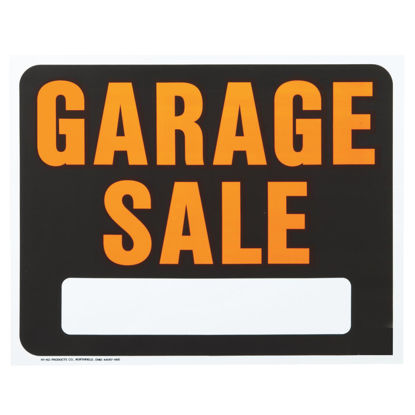 Picture of Hy-Ko Heavy Gauge Plastic Sign, Garage Sale