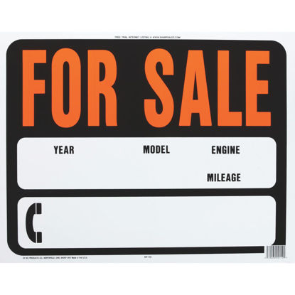 Picture of Hy-Ko Auto Heavy Gauge Plastic Sign, For Sale