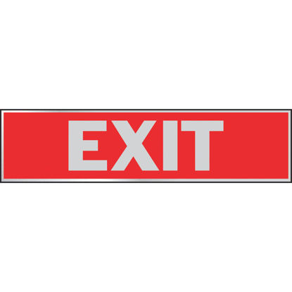 Picture of Hy-Ko Brushed Aluminum Sign, Exit