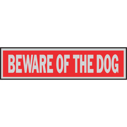 Picture of Hy-Ko Brushed Aluminum Sign, Beware Of The Dog