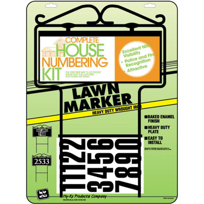 Picture of Hy-Ko Self-Adhesive Address Lawn Marker