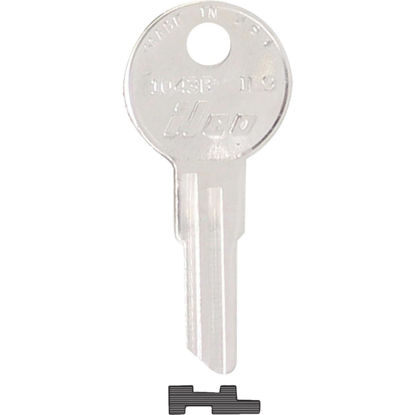Picture of ILCO Illinois Nickel Plated File Cabinet Key, IL9 (10-Pack)