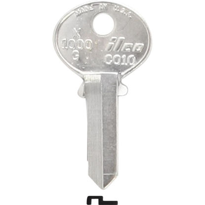 Picture of ILCO Corbin Nickel Plated File Cabinet Key, CO10 (10-Pack)
