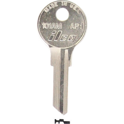 Picture of ILCO APS Nickel Plated File Cabinet Key, AP1 (10-Pack)