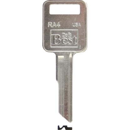 Picture of Do it Best AMC Nickel Plated Automotive Key, RA4 (10-Pack)