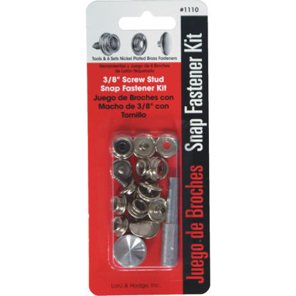Picture of Lord & Hodge Metal Snap Fastener Kit Canvas to Hard Surface (6 Ct.)