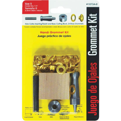 Picture of Lord & Hodge 1/4 In. Brass Grommet Kit