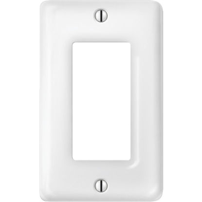 Picture of Amerelle 1-Gang Ceramic Rocker Decorator Wall Plate, White