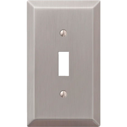 Picture of Amerelle 1-Gang Stamped Steel Toggle Switch Wall Plate, Brushed Nickel