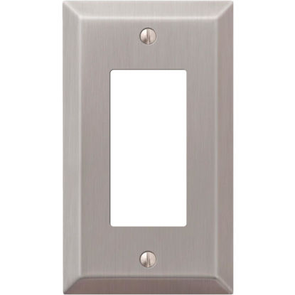 Picture of Amerelle 1-Gang Stamped Steel Rocker Decorator Wall Plate, Brushed Nickel