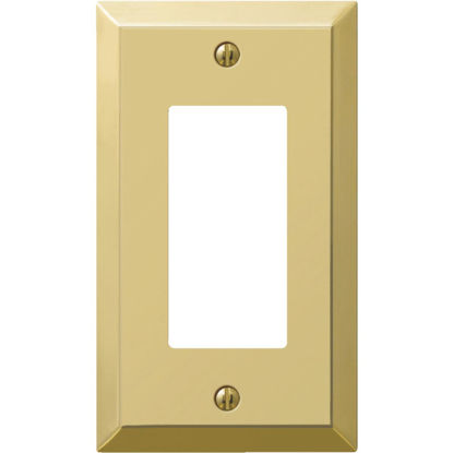 Picture of Amerelle 1-Gang Stamped Steel Rocker Decorator Wall Plate, Polished Brass