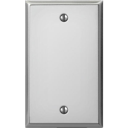 Picture of Amerelle 1-Gang Standard Stamped Steel Blank Wall Plate, Polished Chrome