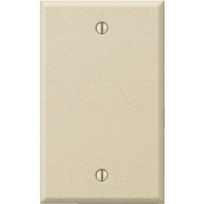 Picture of Amerelle 1-Gang Standard Stamped Steel Blank Wall Plate, Ivory Wrinkle