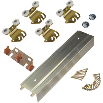 Picture of Johnson Hardware 72 In. Double Wheel Sliding Door Hardware