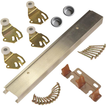 Picture of Johnson Aluminum 48 In. Bypass Door Hardware Set