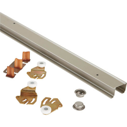 Picture of Johnson 72 In. Steel Bypass Door Hardware Set