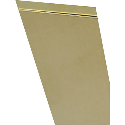 Picture of K&S 4 In. x 10 In. x .005 In. Brass Sheet Stock
