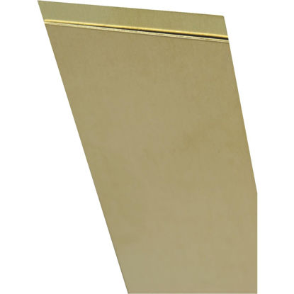 Picture of K&S 4 In. x 10 In. x .015 In. Brass Sheet Stock