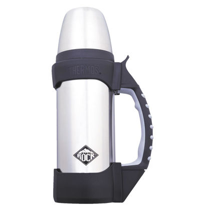 Picture of Thermos Rock 1.1 Qt. Silver Stainless Steel Insulated Vacuum Bottle
